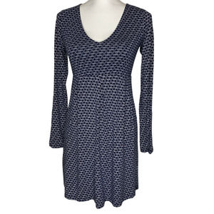 Boden Navy V-neck Long Sleeve Pleated Dress 8R